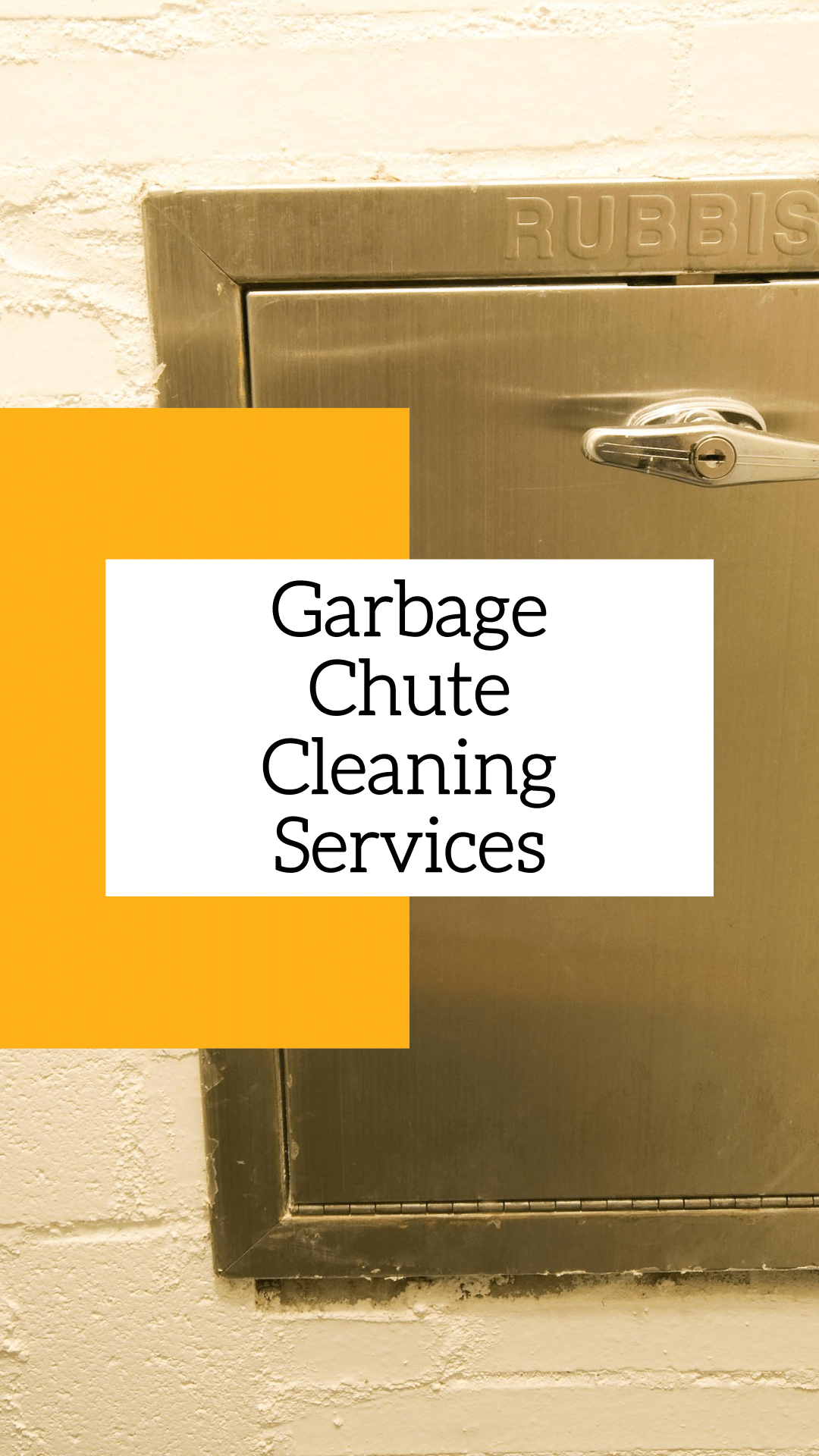 Garbage chute cleaning and repairs
