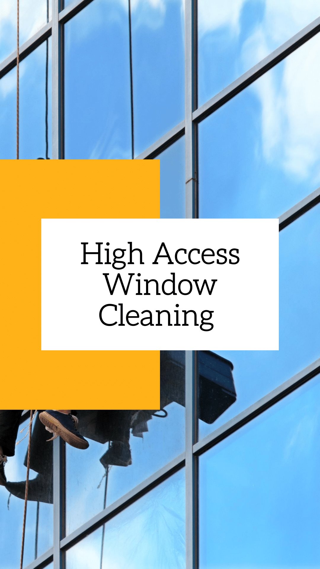 High Window Access Cleaning