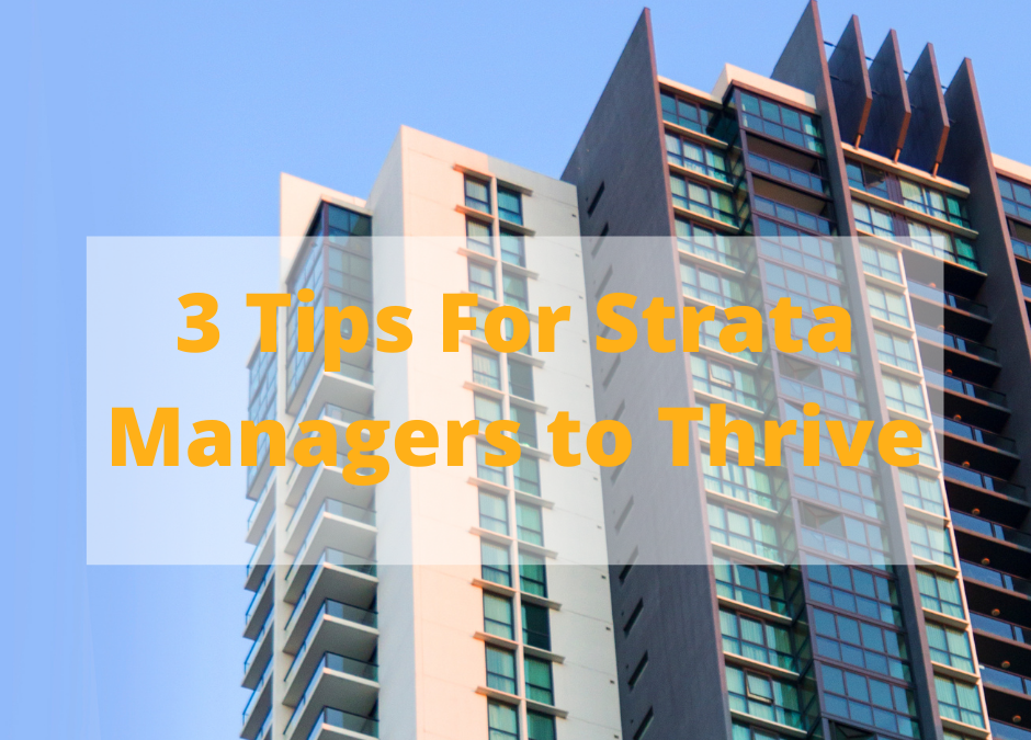 Strata Cleaning And Our 3 Tips For Strata Managers To THRIVE